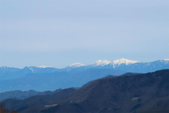 奥秩父から見る南アルプスの景色
