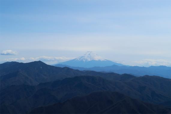 西御殿岩から見る富士山