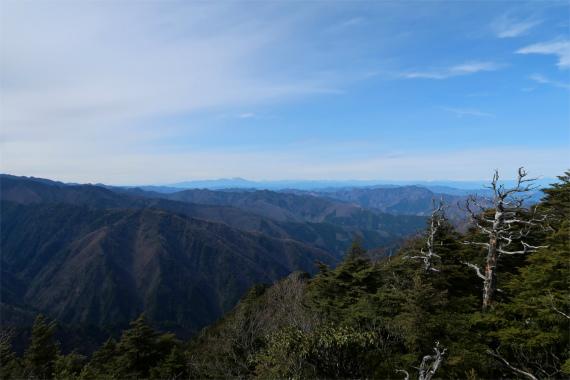 唐松尾山景が広がります
