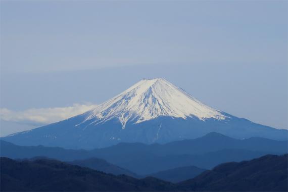 唐松尾山から富士山