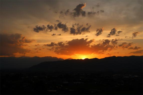 南アルプス夕焼けn