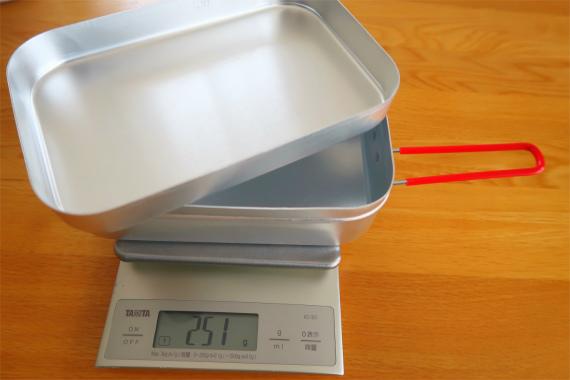 ラージメスティン本体の重量を実測251g