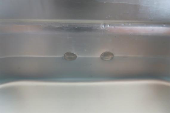 3合炊飯するのに必要な600mlの水をラージメスティンベットの下段ギリギリ水面高さに
