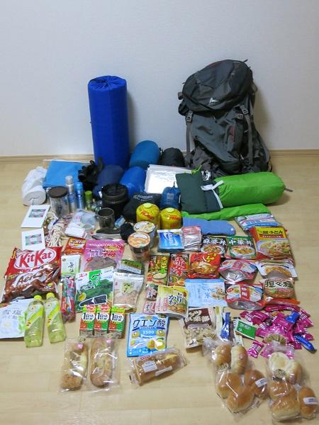 テント泊登山に持っていく荷物パッキング
