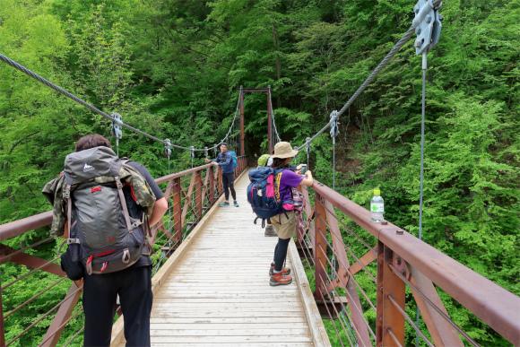 三頭ノ大滝の滝観橋