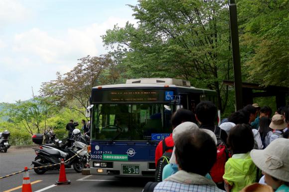 都民の森から数馬バス停無料の連絡バス