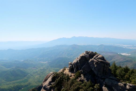 瑞牆山からの景色が素晴らしく
