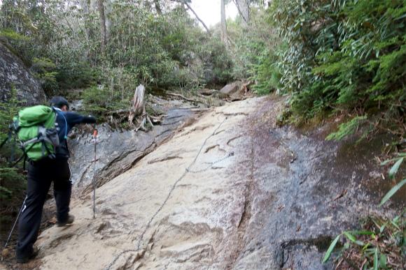 大日小屋から大日岩