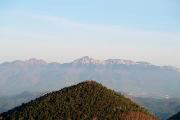 振り返ると八ヶ岳の景色