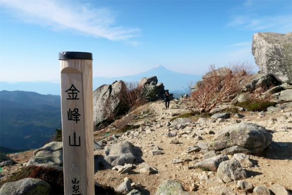 五丈石の近くからも富士山