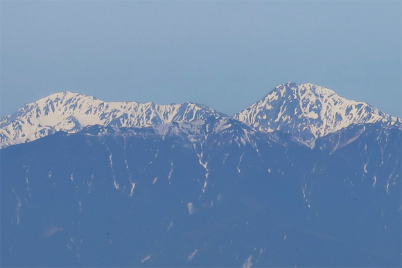 金峰山からの南アルプスの景色