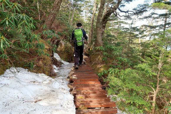 金峰山小屋の巻き道ルート