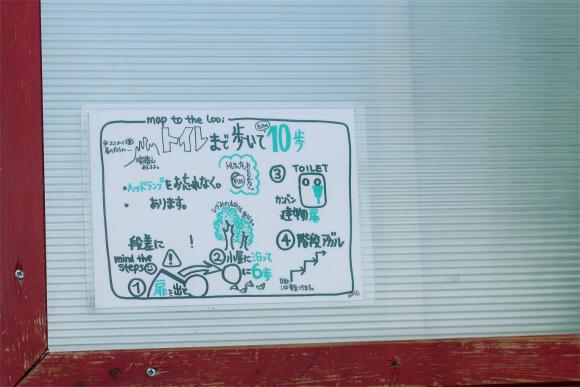金峰山小屋のトイレ案内図