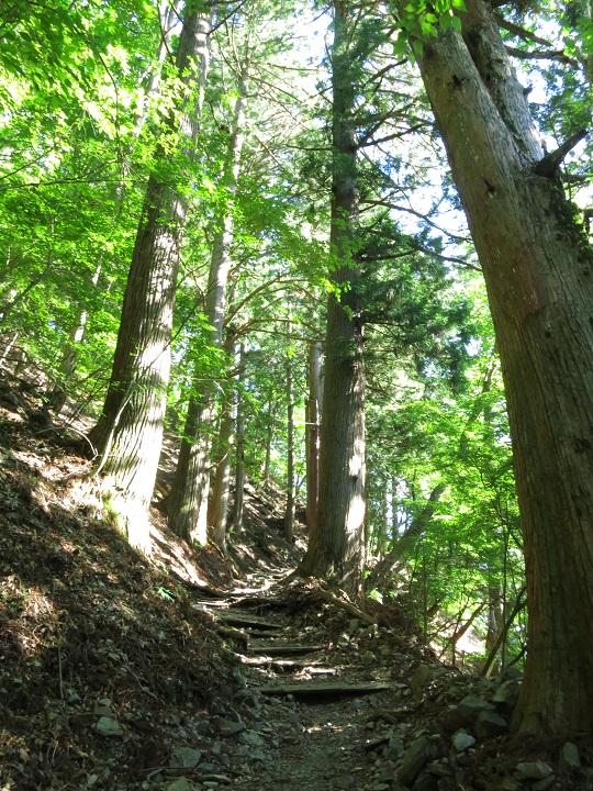 七面山敬慎院までのルート