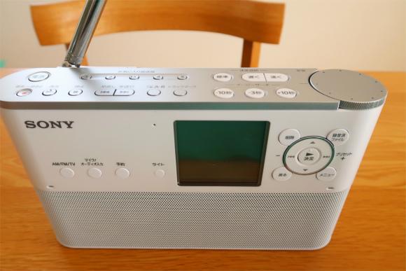 ソニー ポータブルブルラジオレコーダーICZ-R260TV