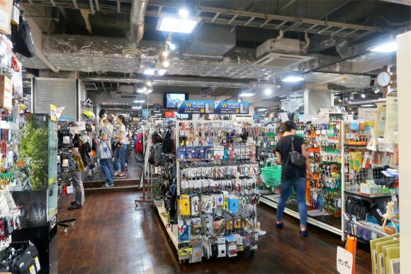 Mt.石井スポーツ本店の内部の様子