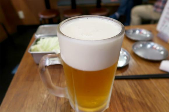 宴会の始まりは生ビール