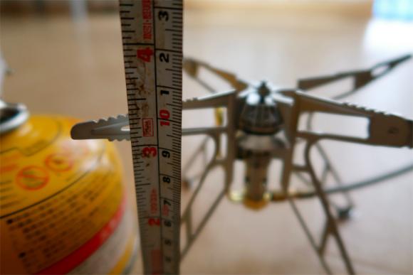 分離型のバーナーの高さは、約3.1cm