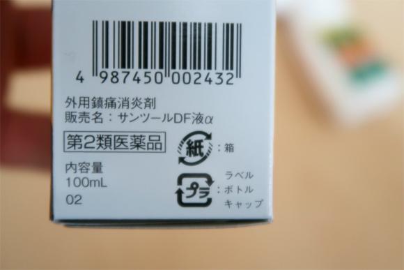 、サンツールDFは医薬品第2類の分類肩凝り効果