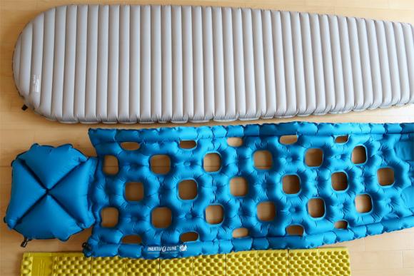 寝袋マットの大きさ・重さの比較軽量スリーピングマット