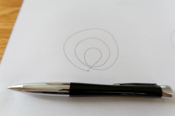 パーカーのボールペンで書いた文字