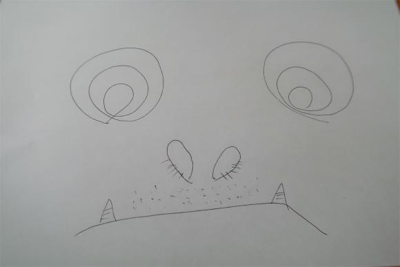 クロスとパーカーのボールペンを比較しながら書いた絵