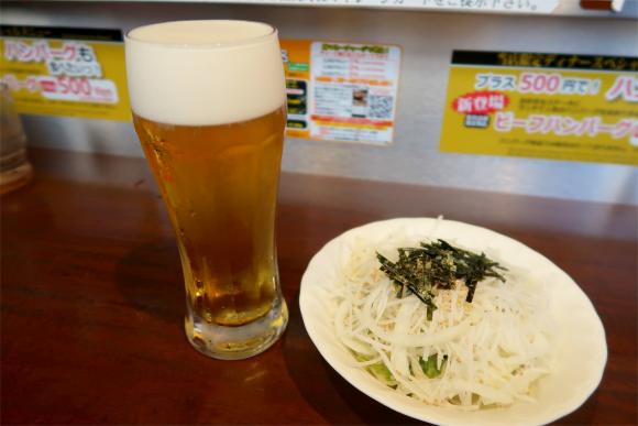 いきなりステーキで飲むビールジョッキ