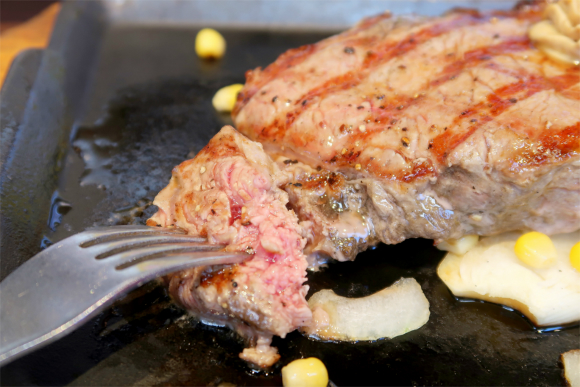 ステーキの300g焼き加減