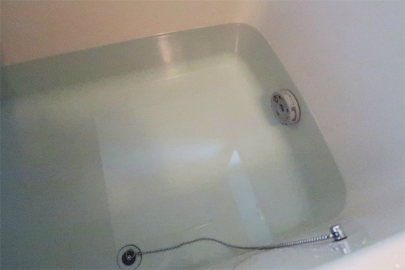 汚い水の現場お風呂の水浄水器する
