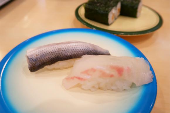 ふじ丸コハダとタイの握り鮨