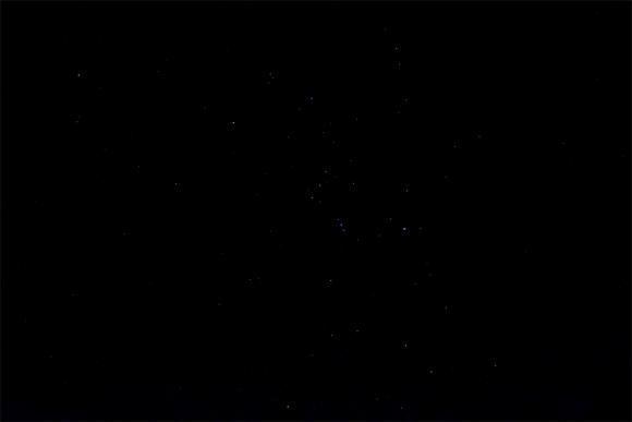 飯豊山の夜空