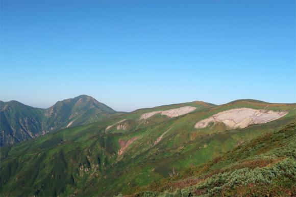 飯豊山の雪渓
