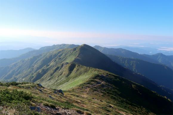 最高の稜線美飯豊山