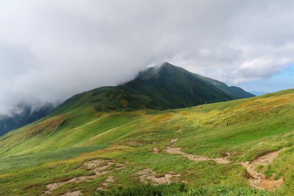ギリギリ大日岳が見えている
