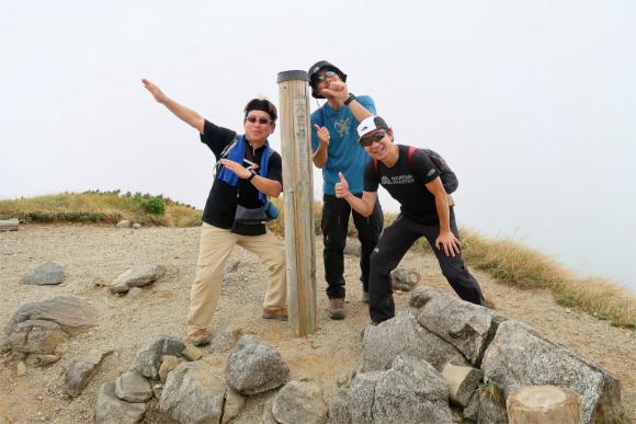 飯豊連峰最高峰の大日岳