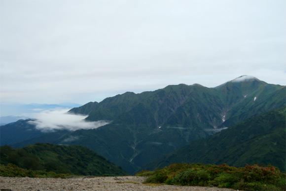 大日岳の方も天気が悪くなってきた