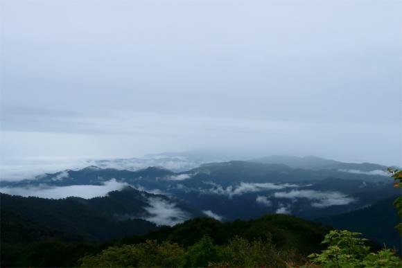 磐梯山方面もすっかりガス