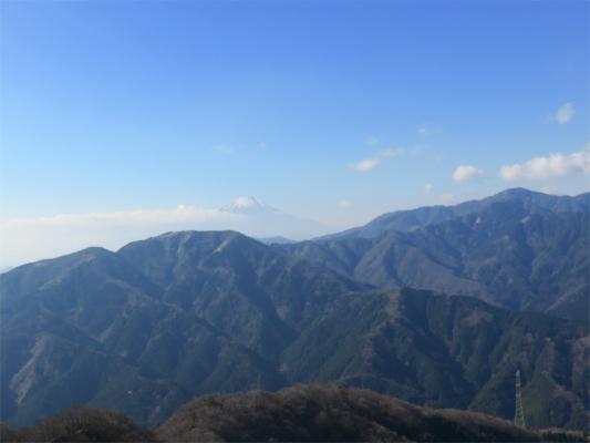 山北尾根からの三ノ塔~塔ノ岳、丹沢山景色