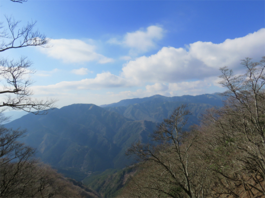 丹沢表尾根の景色