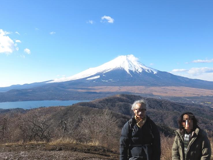富士山と山中湖の景色
