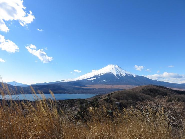 石割山から富士山・山中湖の絶景