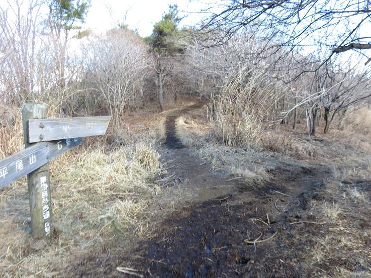 平尾山・石割山から石割神社駐車場への下山ルート