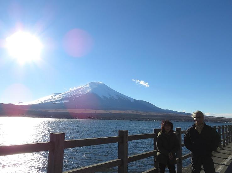 山中湖畔に素晴らしい富士山ビュースポット