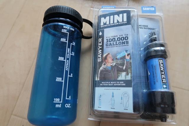 防災グッズ水と浄水器
