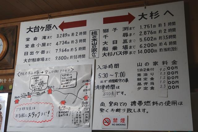 桃の木山の家からの主要目的地までのアクセス(距離・時間)宿泊料金