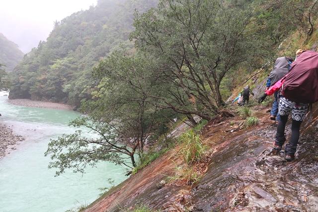 大杉谷渓谷登山中級者向けのコース