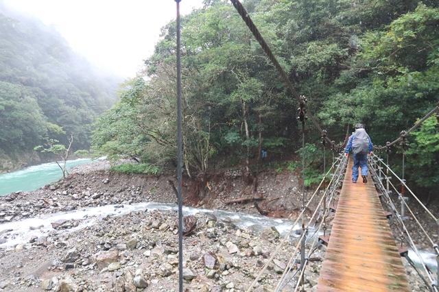 大杉谷渓谷の登山道