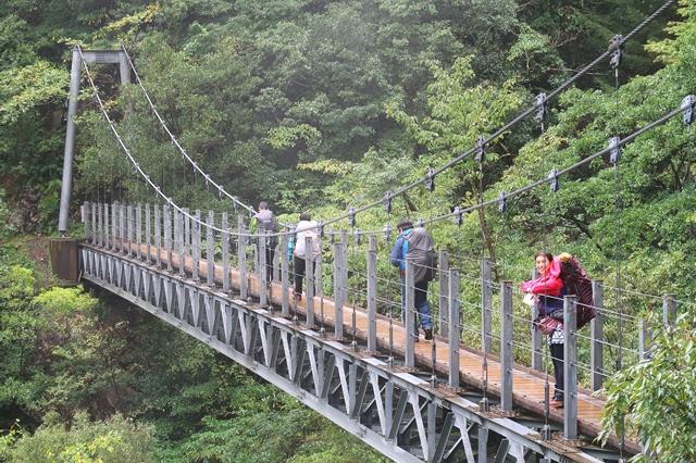 眺めの良い吊橋