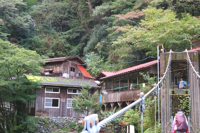 桃ノ木山の家吊橋