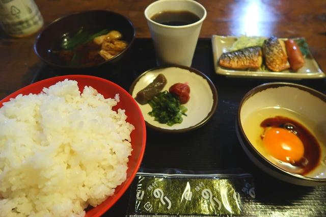 桃ノ木山の家の朝食